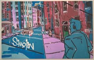 Shaolin - La Rue, 2016.  - En street artist går akryl.