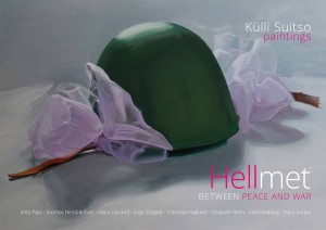 Hellmet Between Peace and War - ArtBook cover - Külli Suitso, paintings, 2017.