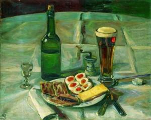 Frokosten - af Fritz Syberg, olie på lærred, 1906.