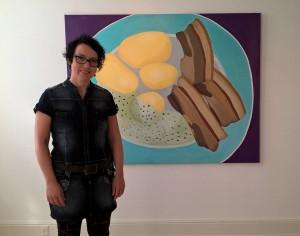 Som Vor Mor lavede det - Af Jonna Pedersen, 134x170 cm, akryl på lærred.