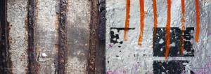 Den vilde poesi og råheden - opslag bunkerfoto, metalmaleri. Af Michael Ruby