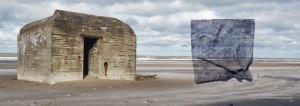 Råhed og vild poesi - bunkerfoto og blyplade af Michael Ruby.