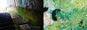 Af Michael Ruby - Bunker interiør, maleri, fotocollage, 2015.