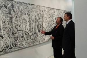 Albert Gulk - Værk i grafit på papir. Omvisning ved kunstneren, 2013.