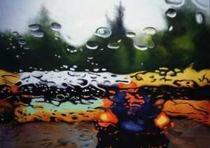 Steen Larsen - Come rain or come shine. Oil on canvas 100x140 cm