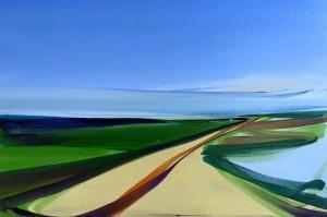 Camilla West - Road - olie på lærred, 40x60 cm