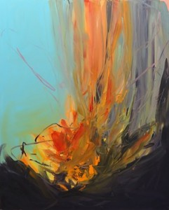 Camilla West - Sct. Hans Blus, olie på lærred 150x120 cm, 2015.
