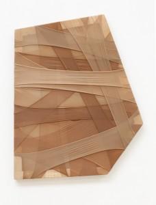 Susanne Schmidt-Nielsen - tekstilt maleri - træ, tekstil, 2013 - Foto Erling Lykke Jeppesen