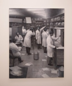 Peter Martensen, X-lab, olie på lærred, 140 x 110, 2017