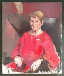 Ghita Nørby - portræt malet af Rasmus Aagaard på DR1