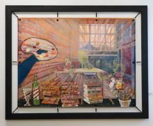 Nana Bastrup - DER KÜNSTLER UND SEINE MUSE 90x120 cm2018