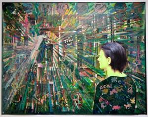Nana Bastrup - Die Aufrüstung, 140x180 cm 2018