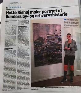 Historien om maleriet i Randers Amtsavis 26.9.2018