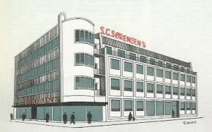 Stålgrossist S.C. Sørensens hovedsæde - opført 1938