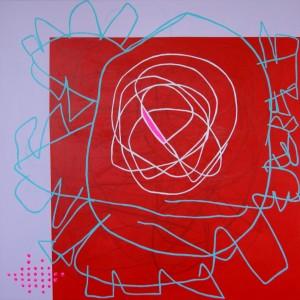 Tina Hille - Hamsterhjul, 100x100, 2015.