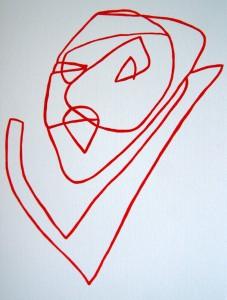 Tina Hille - Kvinde, akryl på papir. Venligst udlånt af kunstneren til artiklen her.