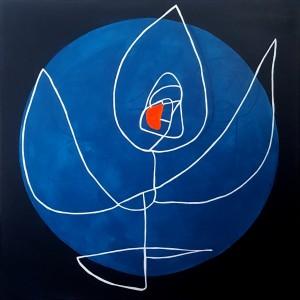 Tina Hille - Peace - akryl på lærred, 100x100 cm.