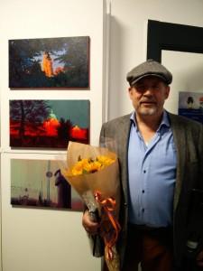 Simon Bang åbner udstillingen Den Gyldne By. foto: Inge Schjødt