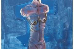 Blå kvindetorso